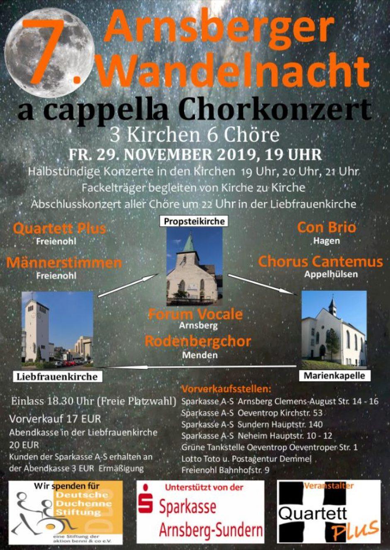 7. Arnsberger Wandelnacht startet am Fr. 29. Nov. 2019 um 19.00 Uhr